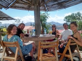Enjoying a refreshing juice and a day off at El Mirador Cafe!