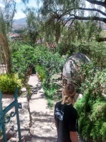 The beautiful garden at El Mirador Cafe